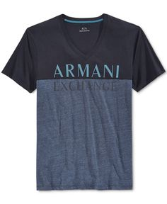 Armani Exchange Men's Tonal Logo T-Shirt - Blue My T Shirt, Tshirts Online, Emporio Armani, Mens Fashion, Flamingo, Casual, Mens Tops, Printing, Sew