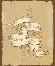 Vintage Design of Ribbon with Beautiful Pattern - GraphicRiver Item for Sale