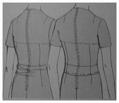 Sway Back Pattern Adjustment in a Dress Back Block Sew Melodic :