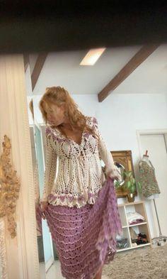 Vanessa Montoro, Modern Crochet, Crochet Fashion, Boho, Crochet Clothes, Lace Skirt, Crochet Top, Arwen, Knitting