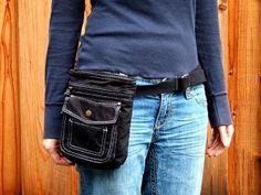 Turn a purse into a hip bag.