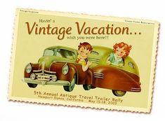 Antique Travel Trailer Rally Postcard, 2003