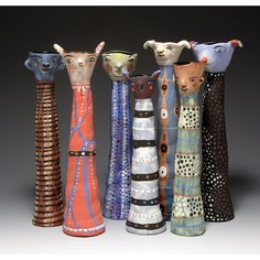 Pottery creatures - Jenny Mendes  http://www.etsy.com/listing/115645461/decorative-vase-bear