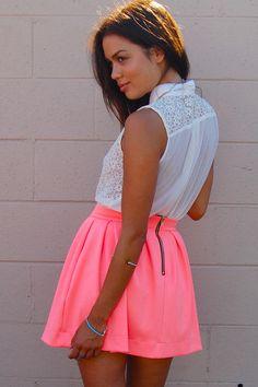 Neon skirt <3