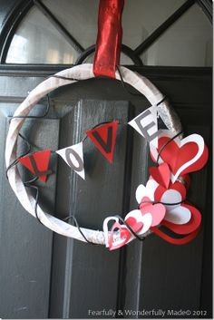 Love Paper Wreath