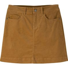 Mountain Khakis Canyon Cord Skirt - 8 - Ranch - Skirts ($70) ❤ liked on Polyvore featuring skirts, clothing - skirts, brown, brown skirt, cord skirt, mountain khakis and pocket skirt
