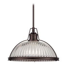 Pendant Light with Clear Glass in Dark Brushed Bronze Finish at Destination Lighting