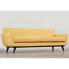 James Mustard Yellow Linen Sofa - Overstock™ Shopping - Great Deals on Sofas & Loveseats