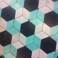 hexagonal hydraulic tile // piso hidraulico hexagonal