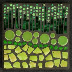 Color Study: Green. Megan Cain Mosaics.
