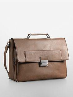 harrison faux leather briefcase | Calvin Klein