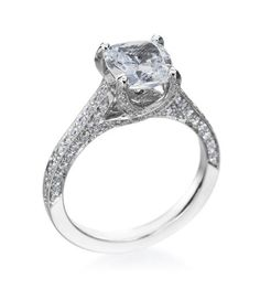 My Setting!!!! He did such a wonderful job :)    NEW CLASSIC COLLECTION  PLATINUM CHANNEL SOLITAIRE SETTING