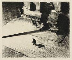 """Edward Hopper: """"Night Shadows"""" (1921)"""