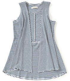 Copper Key Little Girls 46X Striped DrapeFront HighLow Knit Vest #Dillards