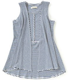 Copper Key Little Girls 46X Striped DrapeFront HighLow Knit Vest #Dillards