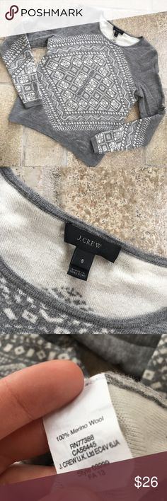J Crew Cropped 100% Merino Wool Sweater J Crew Cropped Sweater  size small lightly worn, in perfect condition  100% merino wool  Will consider ANY offer! J. Crew Sweaters Crew & Scoop Necks