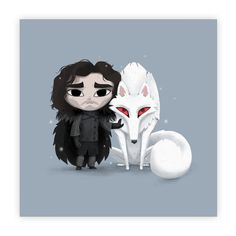 A Crow and a Ghost - #JohnSnow #Ghost #gameofthrones