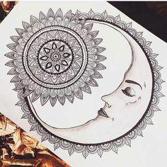 Imagem de moon, drawing, and art