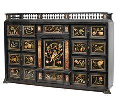 A splendid Baroque Pietra Dura cabinet, Florence, 2nd half 17th ct.