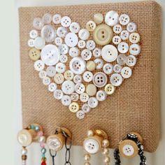 Saiba já como fazer um porta-chaves de botões
