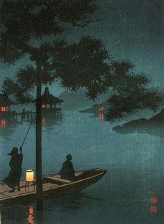 Lake Biwa by Shoda Koho from the Night Scenes series.