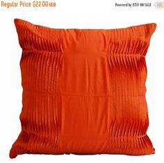 10% Sale Decorative pillow  Orange pillow  Cotton by AmoreBeaute
