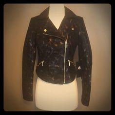 NWT Rock & Republic Jacket Black and Gold. Very cool. NWT. Rock & Republic Jackets & Coats