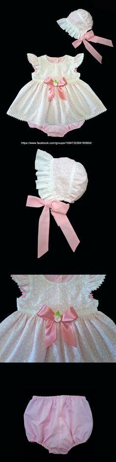 Vestido de Bebê em Laise -  Molde Gratis .....................Eyelet Baby Dress - Free Pattern.....................  https://www.facebook.com/groups/1594730384185604/--------------------------baby - infant - toddler clothes for girls - vestido - menina