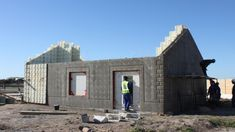 Moladi, a South African company, specialises in a reusable plastic formwork for use in construction of affordable housing and low cost housing projects. Building Costs, Building Systems, Building Facade, Green Building, Building Plans, Building A House, Building Materials, Greenhouse Glass Panels, Dome Greenhouse