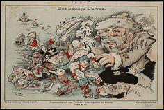 'Das heutige Europa' (Today's Europe) - Published in Zurich by Caesar Schmidt in 1875