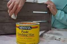Great tutorial for getting a pretty whitewash/aged finish using pickling stain a. Great tutorial for getting a pretty whitewash/aged finish using pickling stain and and minwax wax. Paint Furniture, Furniture Makeover, Furniture Refinishing, Minwax, Paint Stain, Ana White, Diy Projects To Try, Wood Projects, Furniture Inspiration
