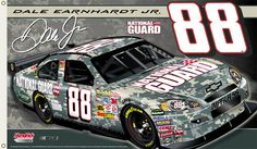 Dale Earnhardt Jr. #88 NATIONAL GUARD CAMOUFLAGE ACU 2008 Giant 3'x5' NASCAR Banner Flag - available at www.sportsposterwarehouse.com