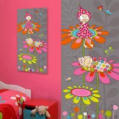 """Tableau """"Rêves de Violette"""" 38 x 78 cm"""
