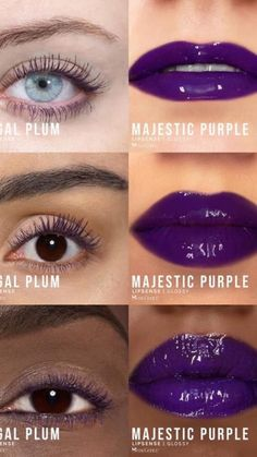 Display your inner intense hues with Limited Edition Regal Plum VolumeIntense Mascara & Majestic Purple LipSense LipColor by SeneGence.  Light up your look. #regalplum  #majesticpurple #senegence #lipsense #lashsense #mascara