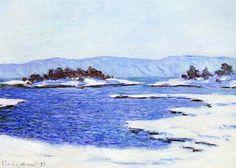 Claude Monet ( 1840–1926). Fjord à Christiania, Norvège, 1895. huile sur toile, 65 × 91.5 cm . collection privée. Source : Wikimedia Commons, Licence :Réutilisation autorisée sans but commercial
