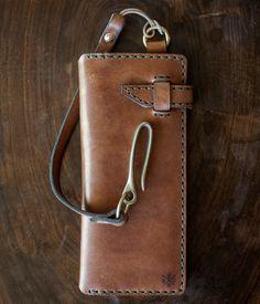 Trucker Wallet Wallet Chain, Long Wallet, Leather Cuffs, Leather Men, Leather Wallet Pattern, Rocker, Leather Pieces, Leather Projects, Leather Accessories