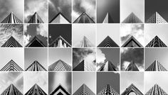 a collage of architecture photography for geometry club