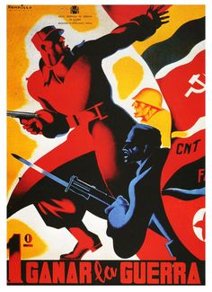 Spanish Civil War poster by Parrilla.