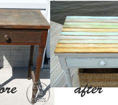 Easy DIY Home Decor Crafts: Side Table Makeover - Cottage Chic