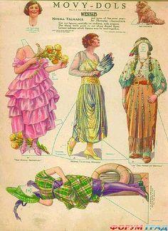 Вот на этом сайте я обнаружила этих очаровательных бумажных кукол!  http://gold-nostalgia.livejournal.com/279330.html        Какое велико...