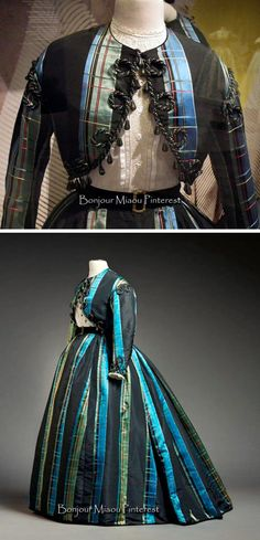 Robe a transformation, in 2 pieces, with bolero jacket, 1865. From an exhibit at the Museum of Costume & Lace in Brussels.