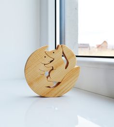 Wood fox family - Wooden Puzzle fox - Educational toys - montessori toys - Kids gifts - Animal puzzle