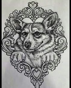 #filigree #dog #portrait #animal #pet #puppy #tattoo #custom #freehand #drawing #nh #ink #JakeCustomTattoos