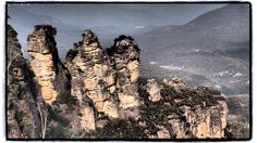 The Sisters. Available for purchase on Red Bubble: http://www.redbubble.com/people/cyn75/works/14339041-the-sisters #threesisters #katoomba #newsouthwales #australia #bluemountains #travel #winter
