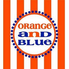 Orange and Blue - breathe it....live it!  Go Broncos!