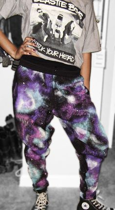 Galaxy Harem Skinny Sweatpants $45 Get you some!! handmade & Unique!!