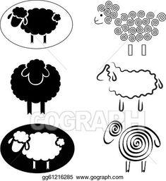 Black Sheep Drawing Black silhouettes of sheep Sheep Silhouette, Black Silhouette, Black Sheep Tattoo, Sheep Logo, Sheep Drawing, Sheep Crafts, Sheep Art, Arte Country, Cute Sheep