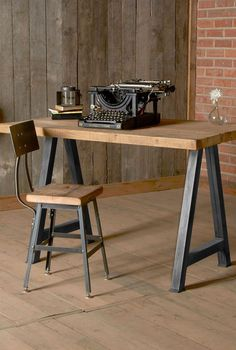 wooden desk Reclaimed from century-old American buildings