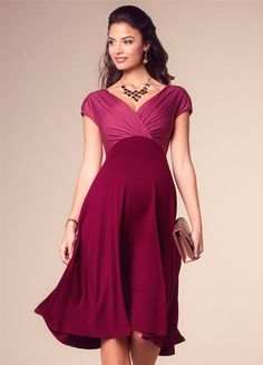 ba3cdb9b38c6 Queen Bee Alessandra Maternity Dress in Rosey Red by Tiffany Rose Pregnant  Party Dress