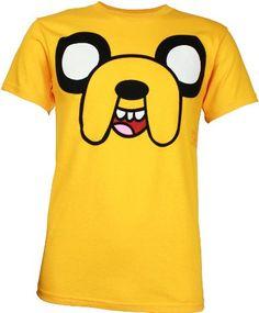 Adventure Time Jake Face Men's T-Shirt: Amazon.com: Clothing